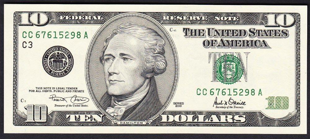 kaip 10 dolerių